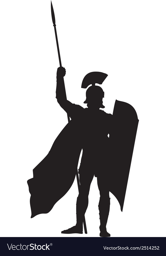 Roman warriors theme vector