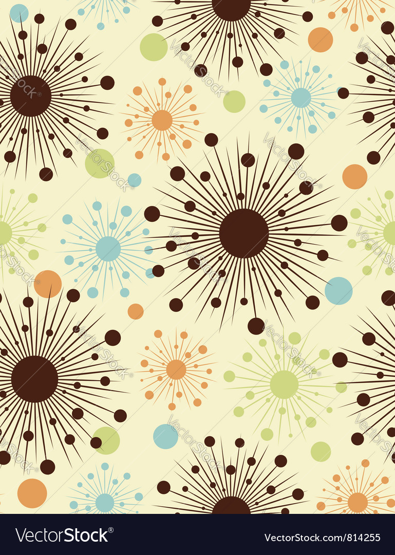 Abstract retro dots - seamless pattern vector