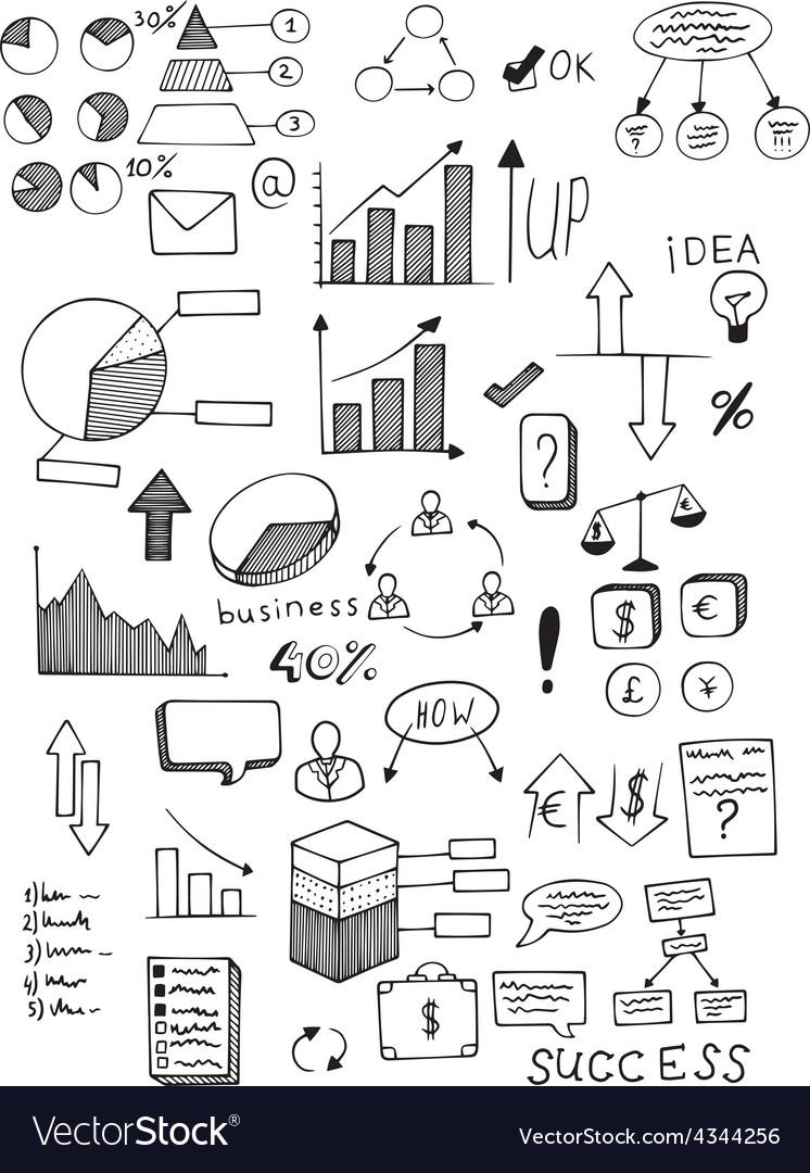 Business plan set vector