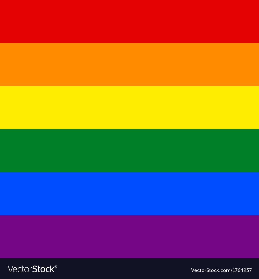 Gay flag vector