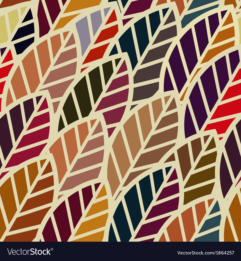 Seamless with abstract leaf vector