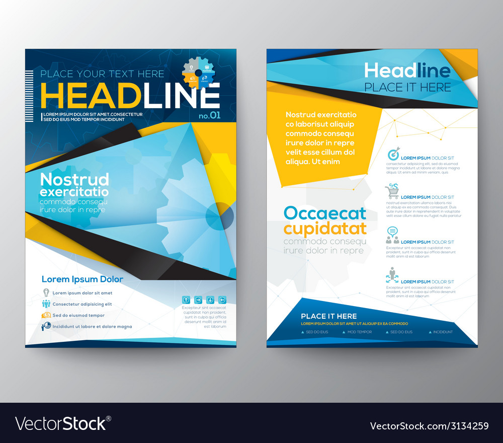Abstract triangle design template layout vector