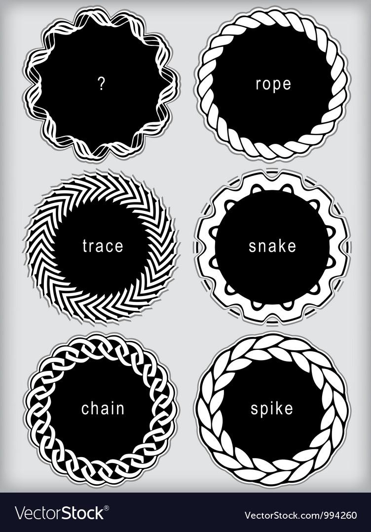 Set of simplistic framed labels vector