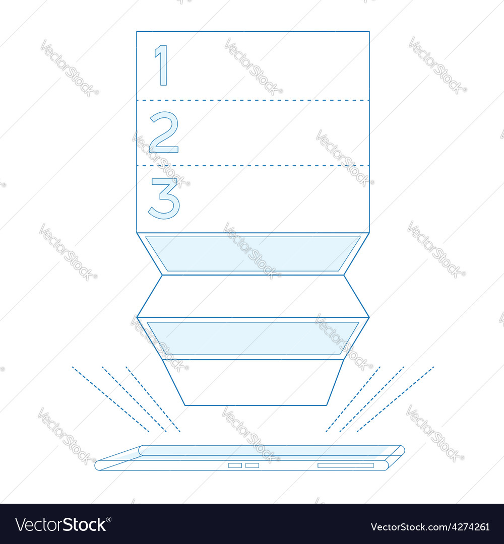 Smartphone list in blue color vector