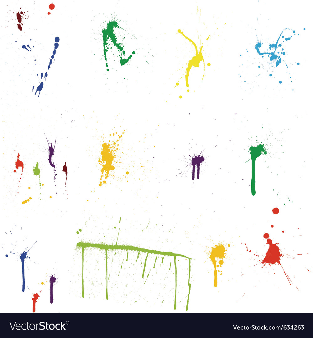 Grunge paint splatter vector