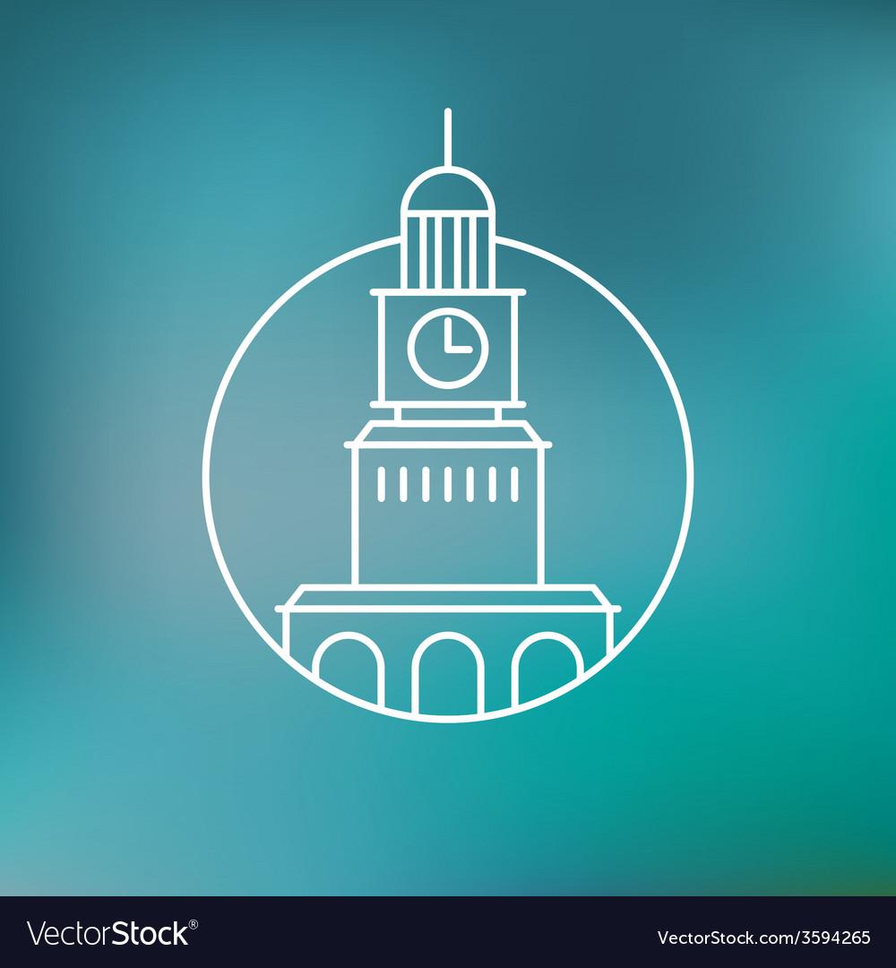 Building emblem vector