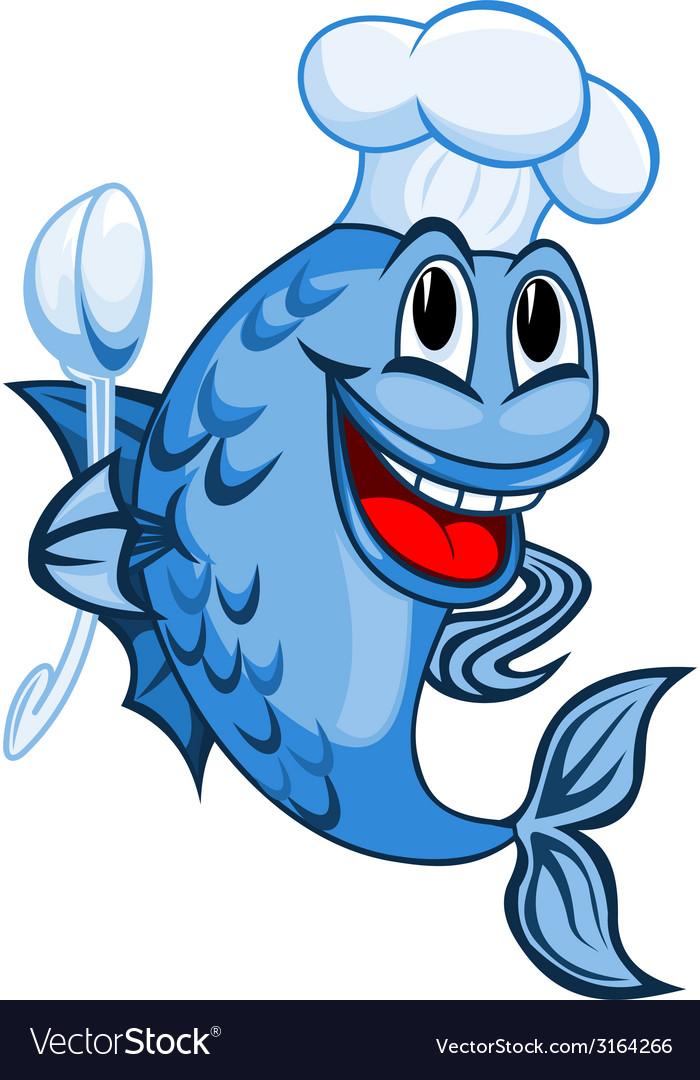 Chef fish vector