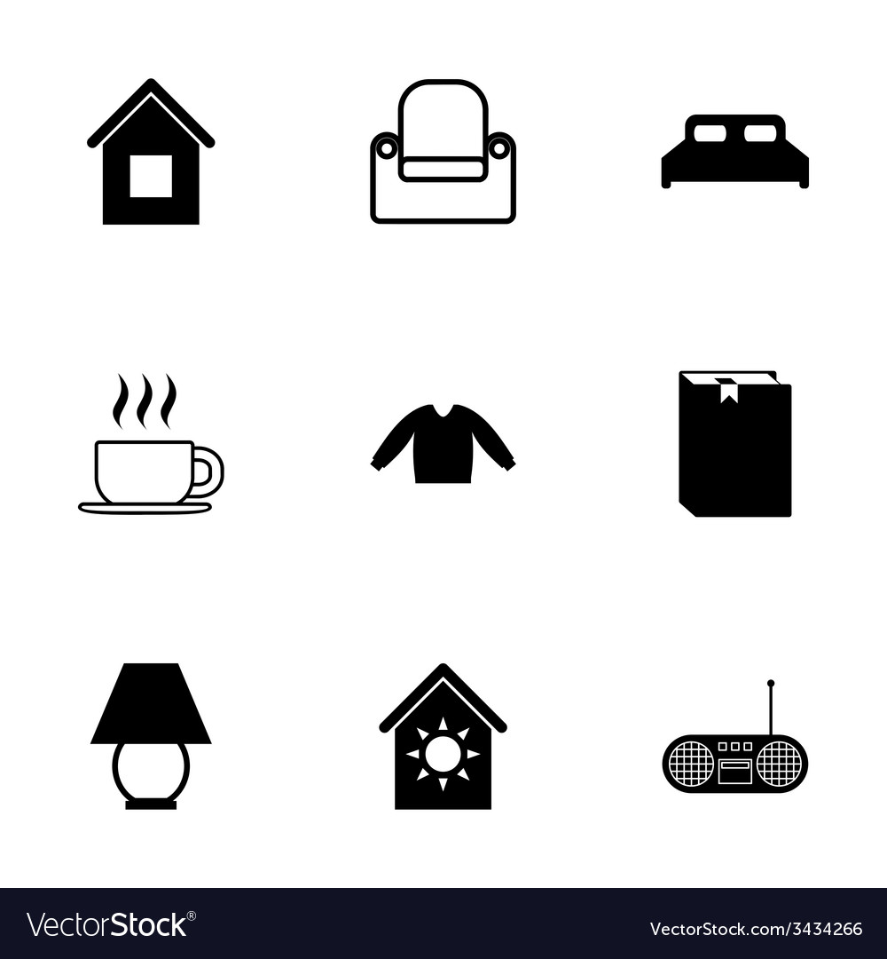 Homey icon set vector