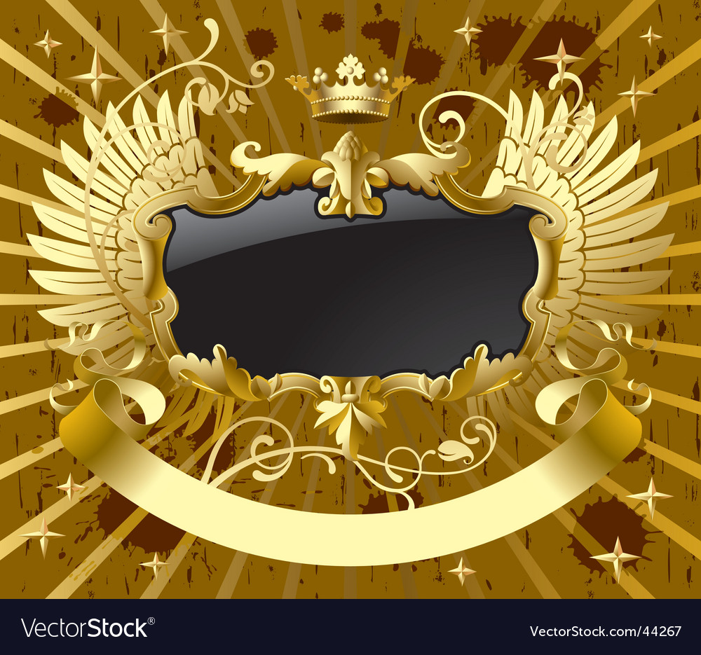 Classic gold-black banner vector