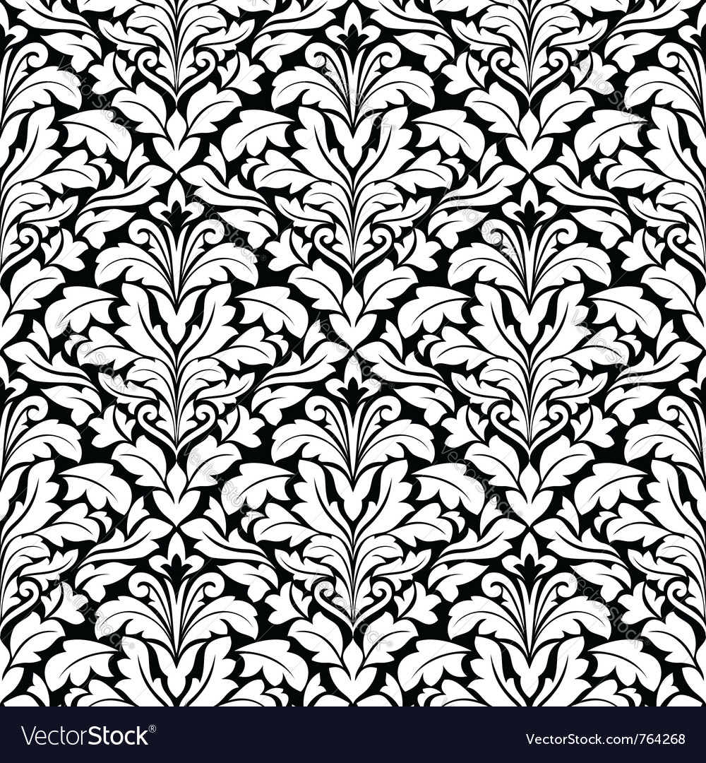 Royal damask seamless pattern vector