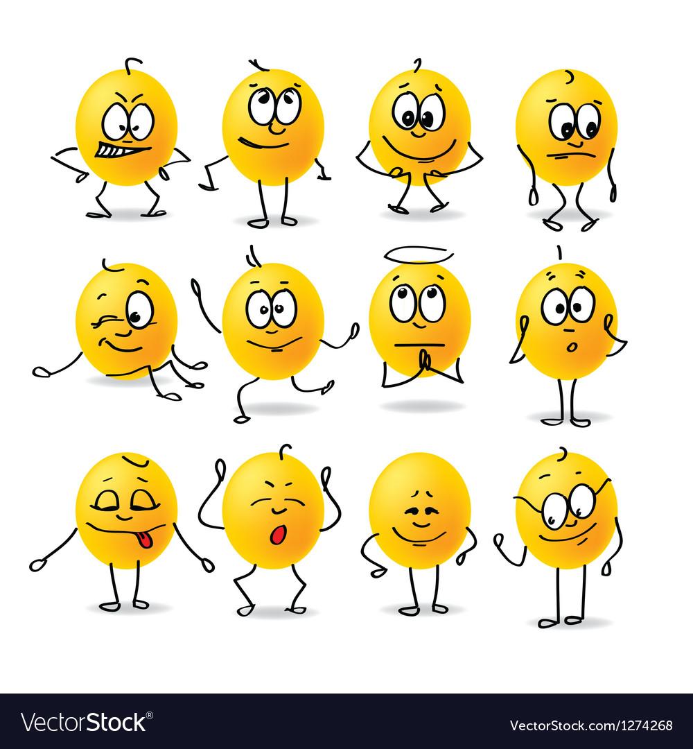 Smiley emotions vector