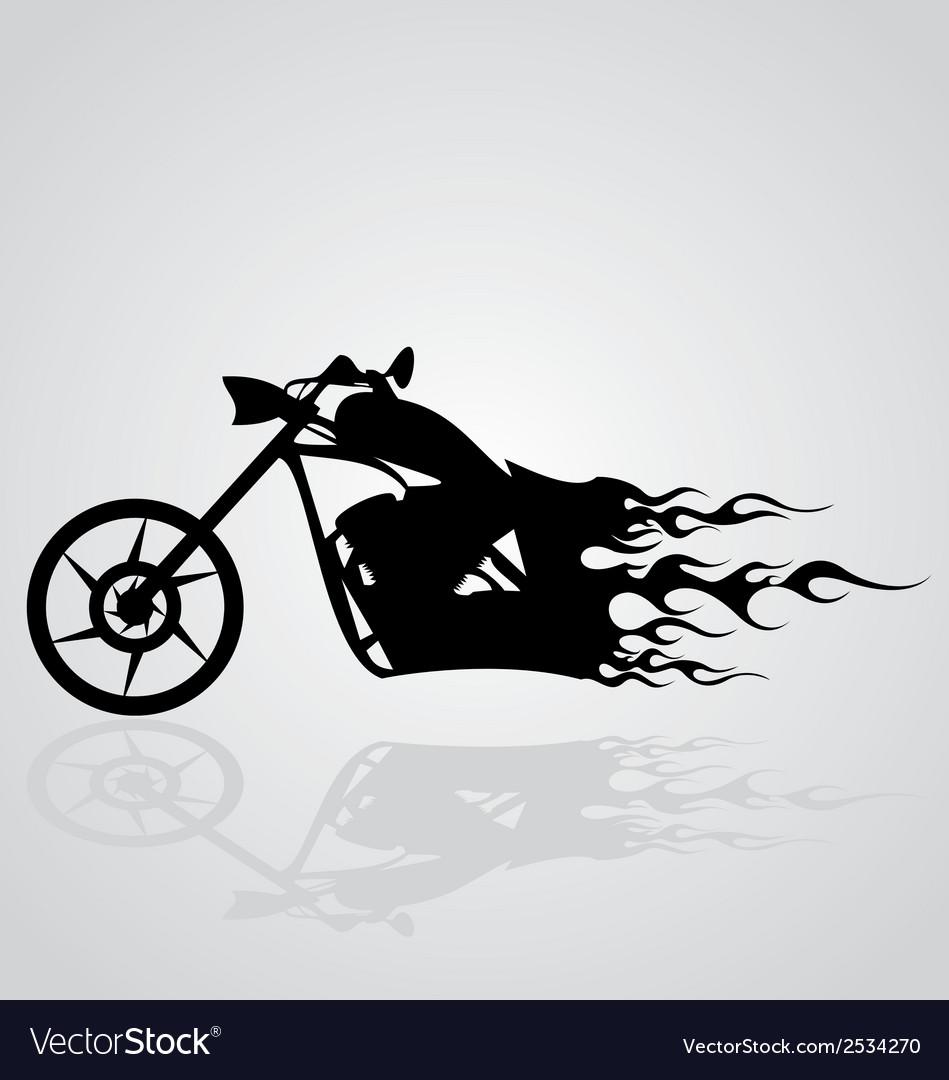 Flaming motorcycle vector