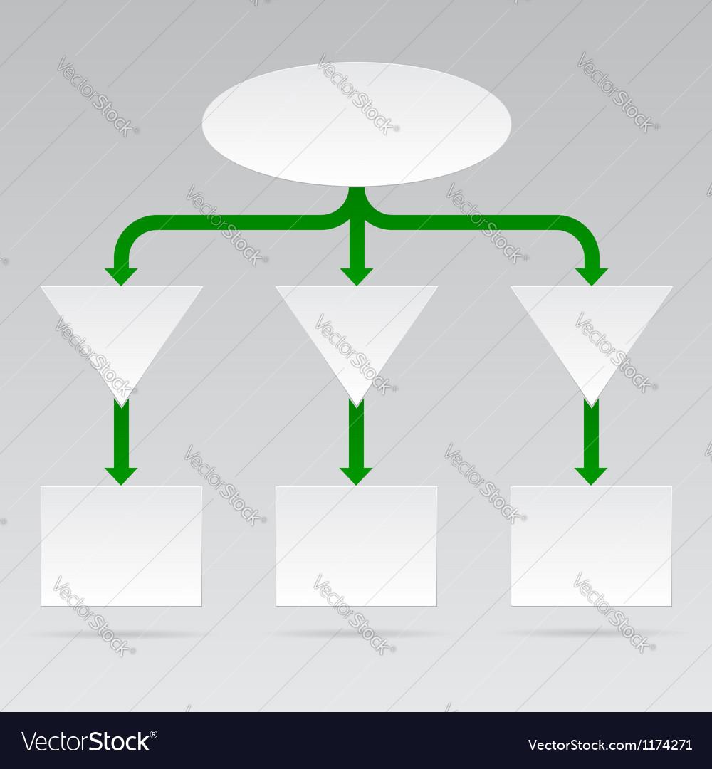 Empty diagram in format vector
