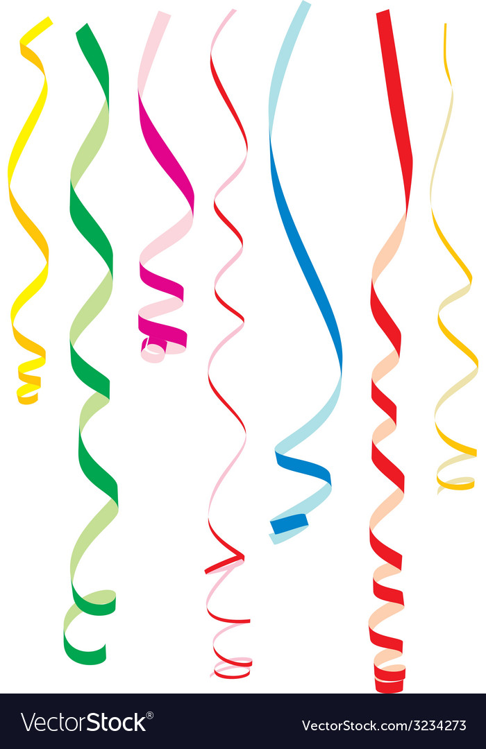Color party ribbons vector