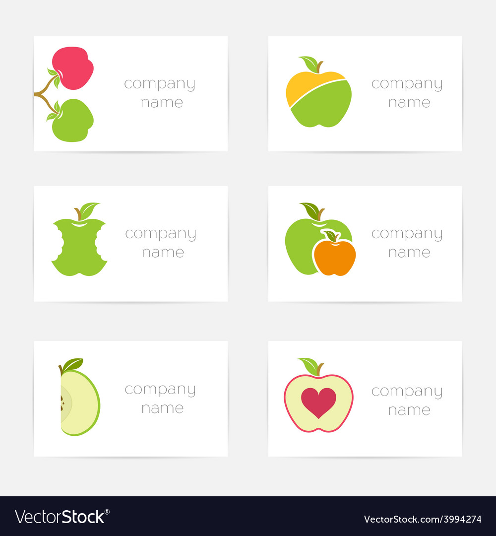 Set of logos and symbols for company vector