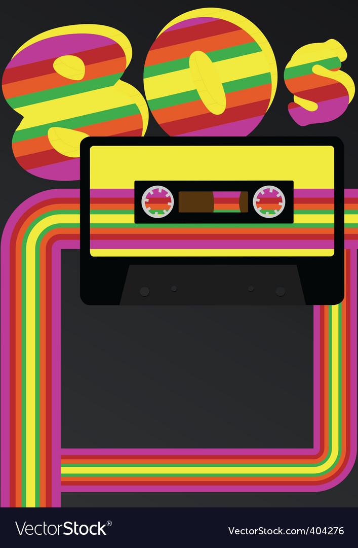 Retro party background vector