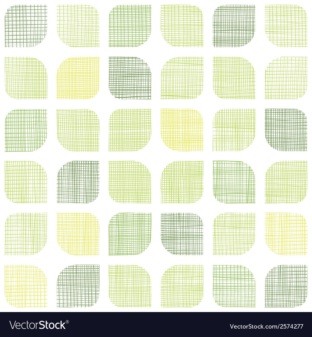 Abstract textile green rounded squares seamless vector