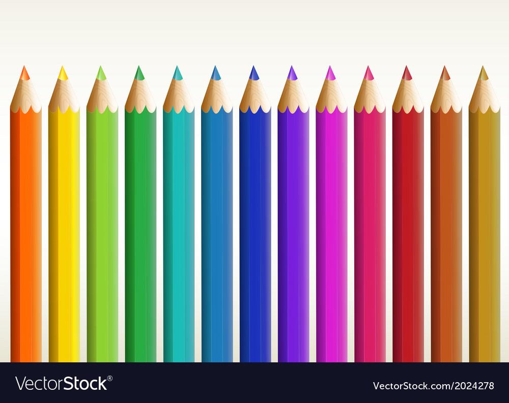 Colorful long pencils vector