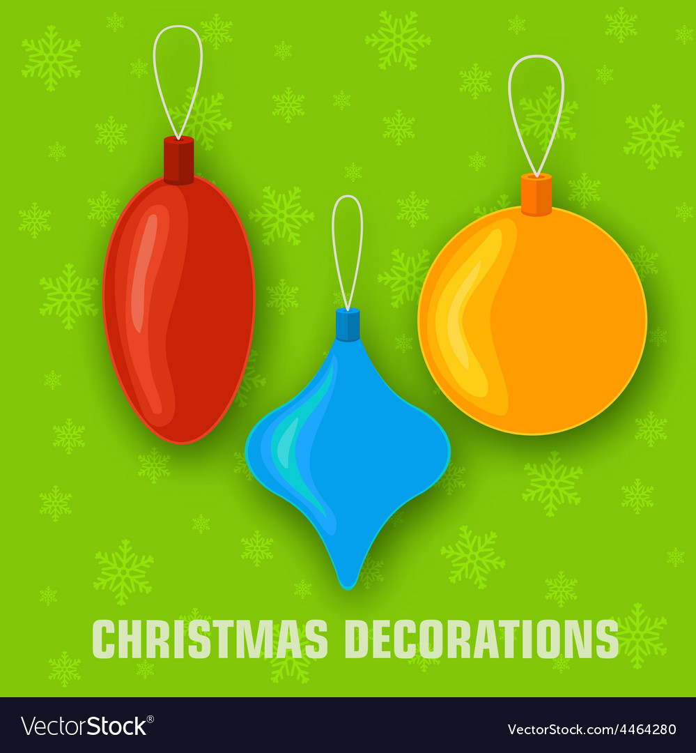 Collection of merry christmas and happy new year vector