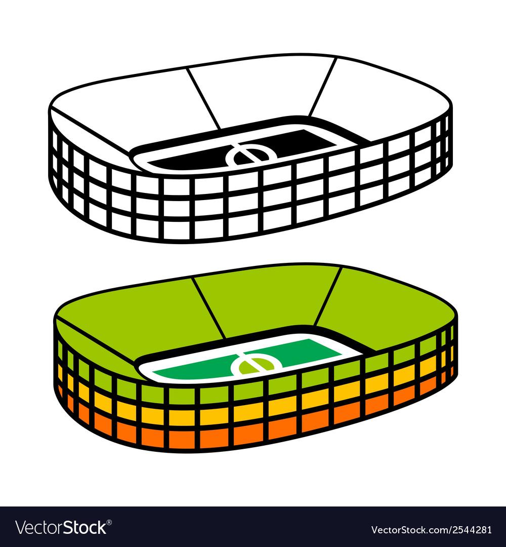Soccer stadium sign vector