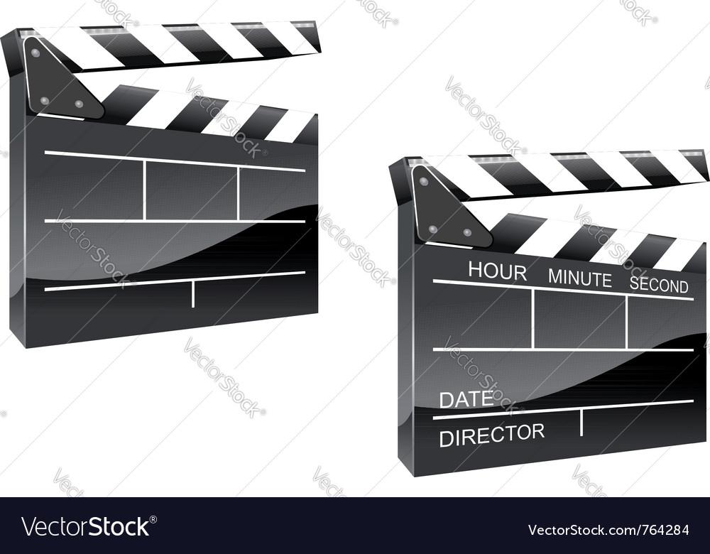 Movie clapper board vector