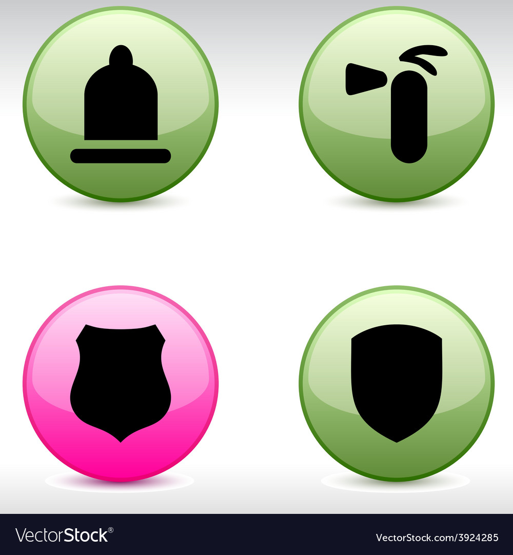 Safety icons vector