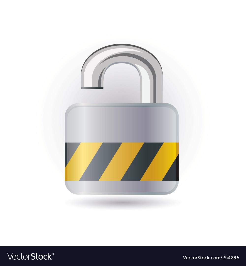 Open lock icon vector