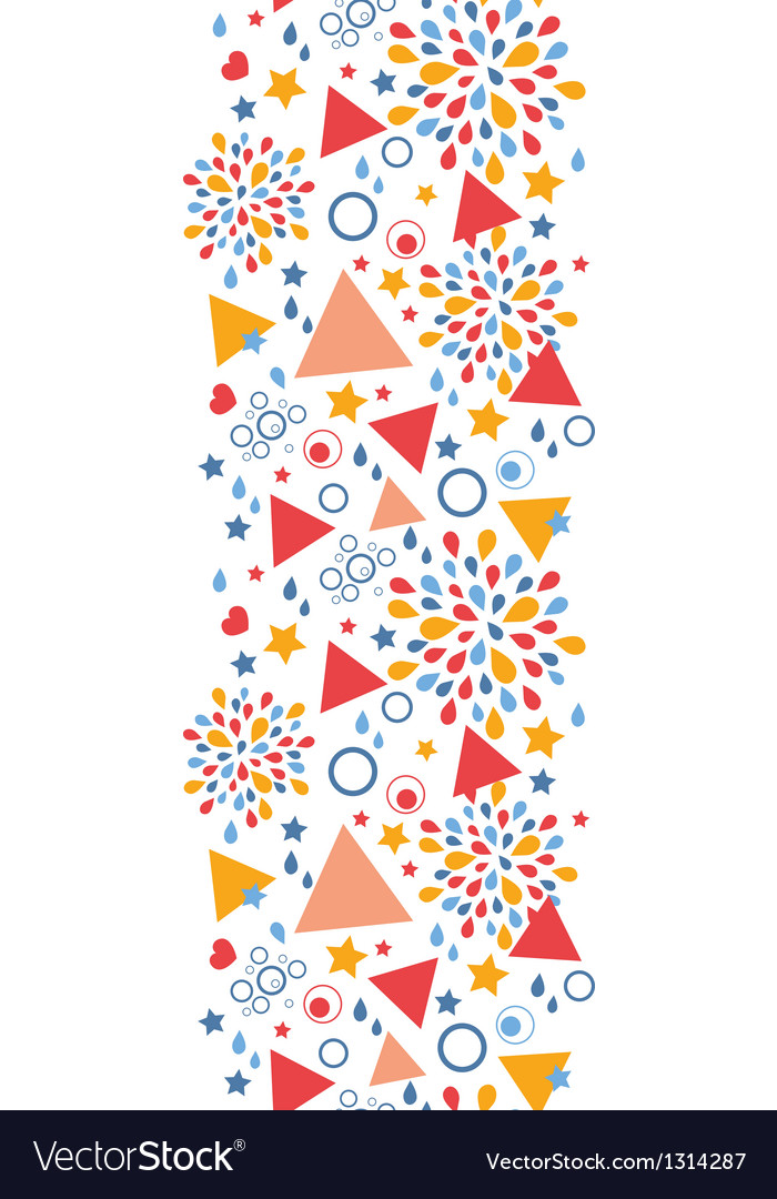 Abstract celebration vertical seamless pattern vector