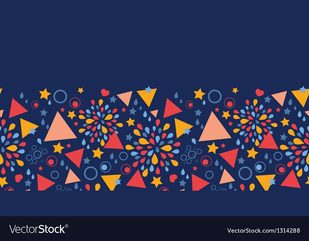 Abstract celebration horizontal seamless pattern vector