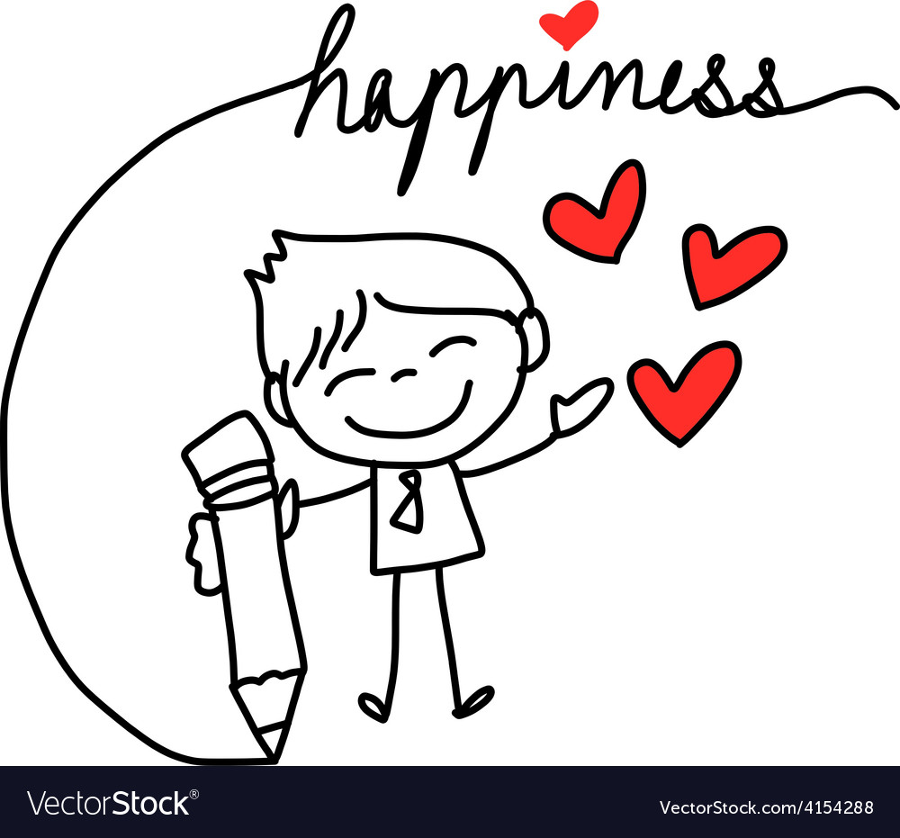 Cartoon concept happiness vector