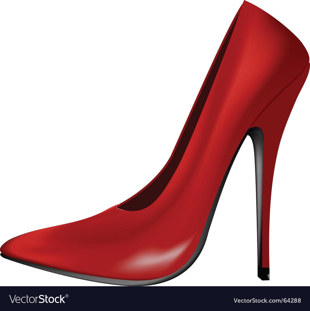 Red shoe vector