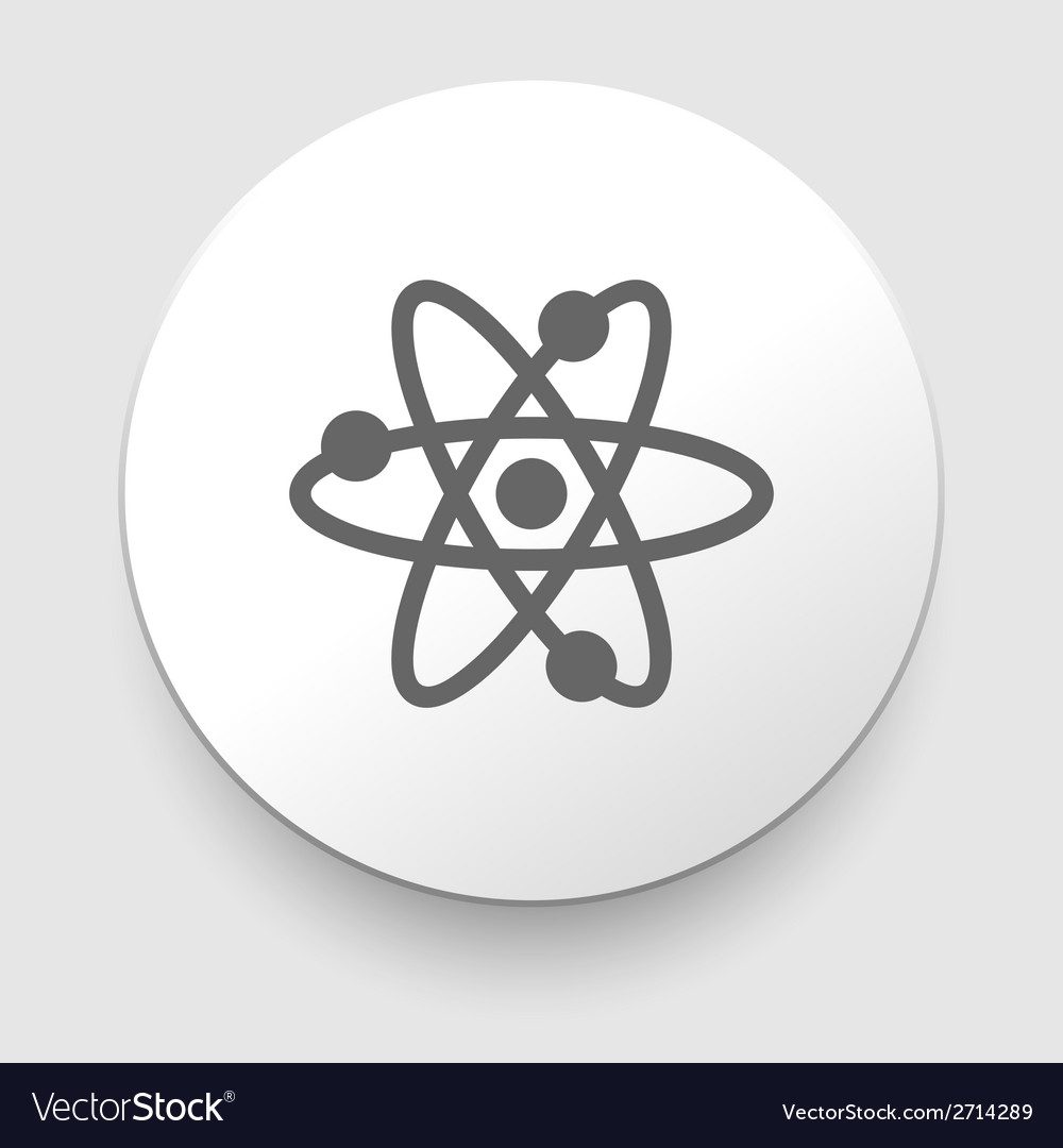 Atom abstract physics science model symbol vector