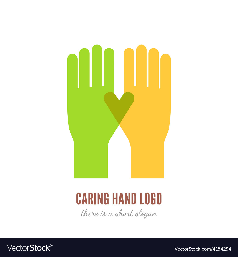 Caring hand logo vector