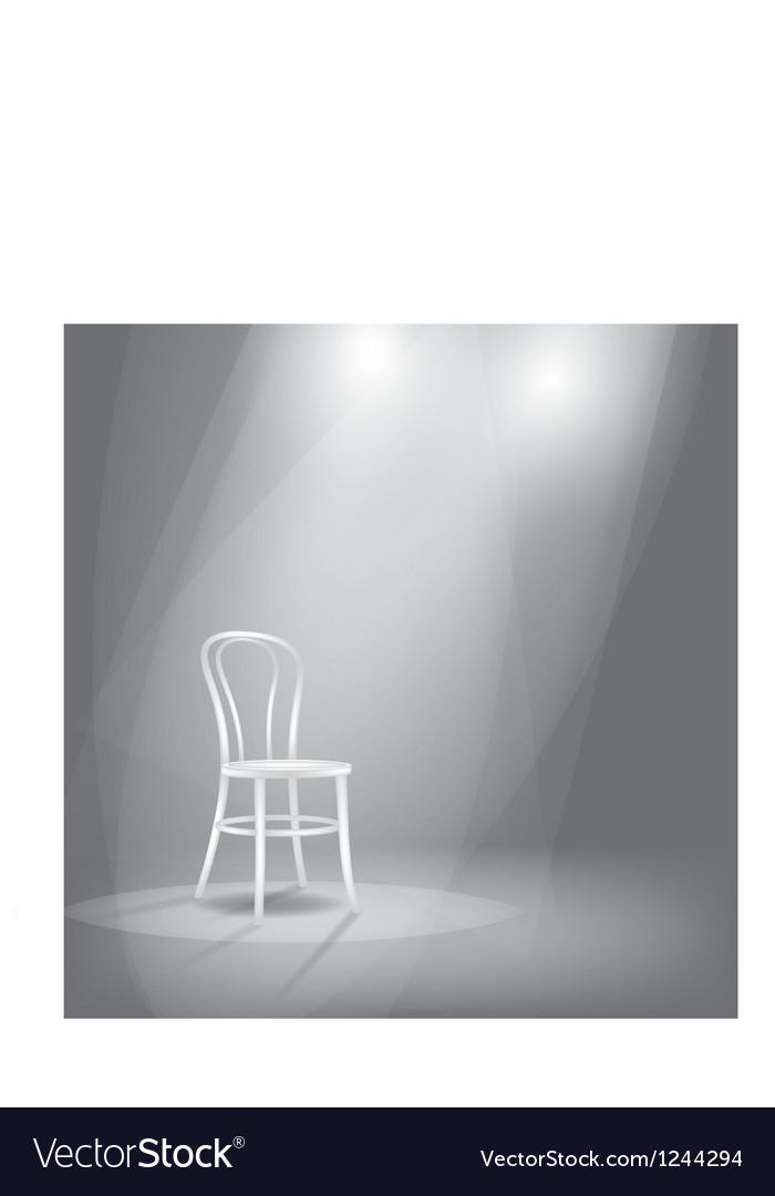 Stage in spotlights vector