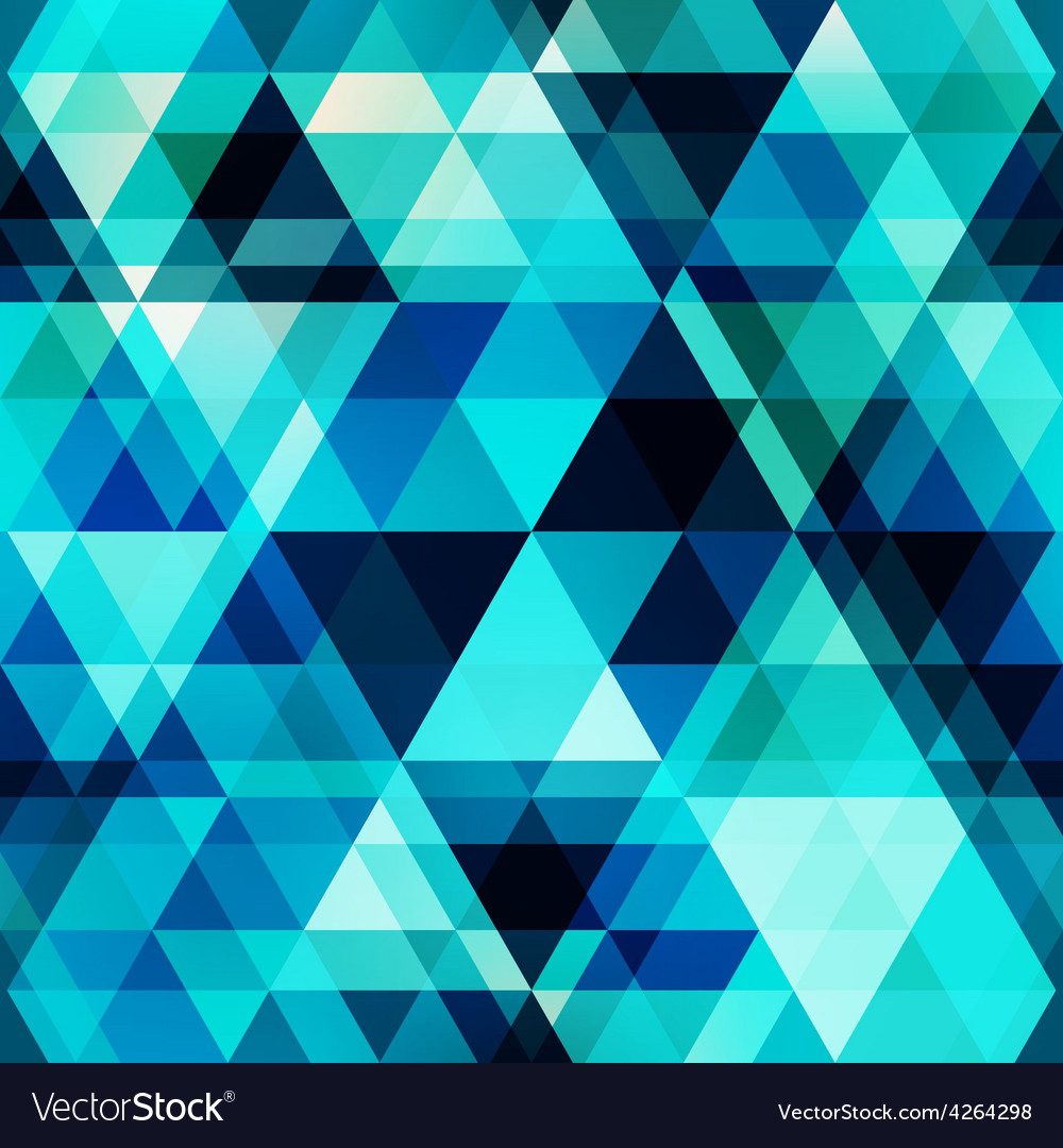 Blue crystal seamless pattern vector