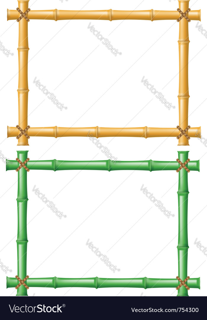 Frame made of bamboo vector