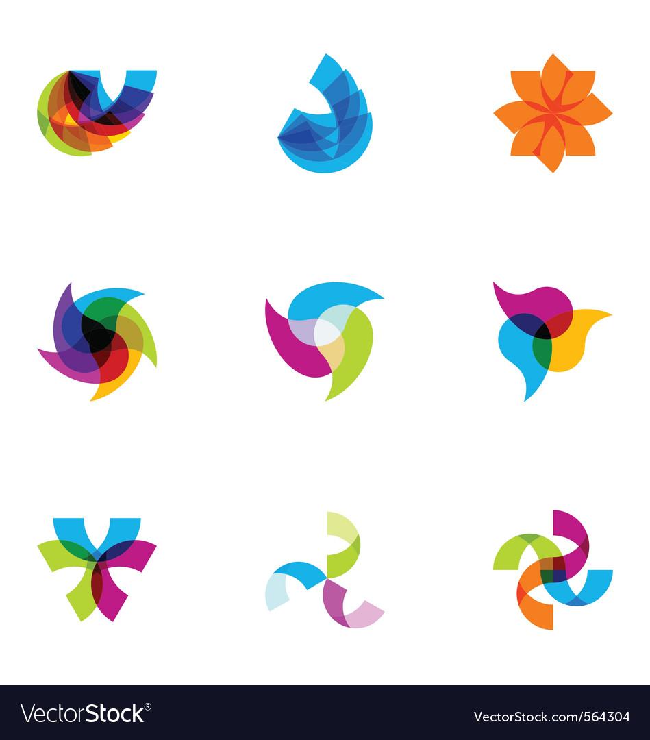 Logo design elements set 02 vector