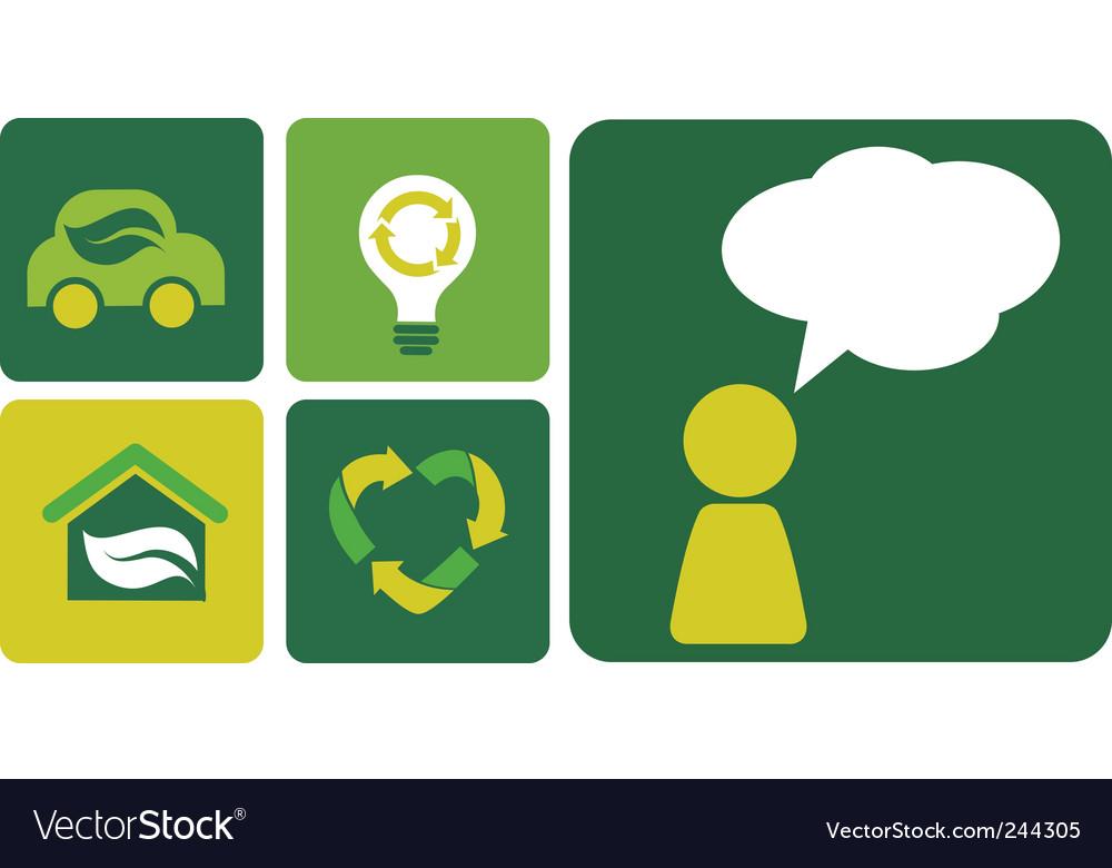 Alternative energy poster vector