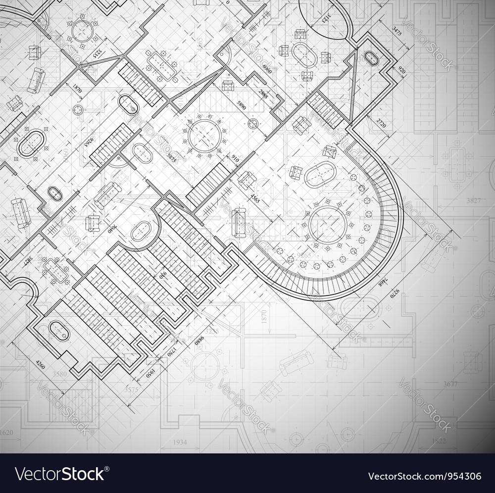 Architectural plan vector