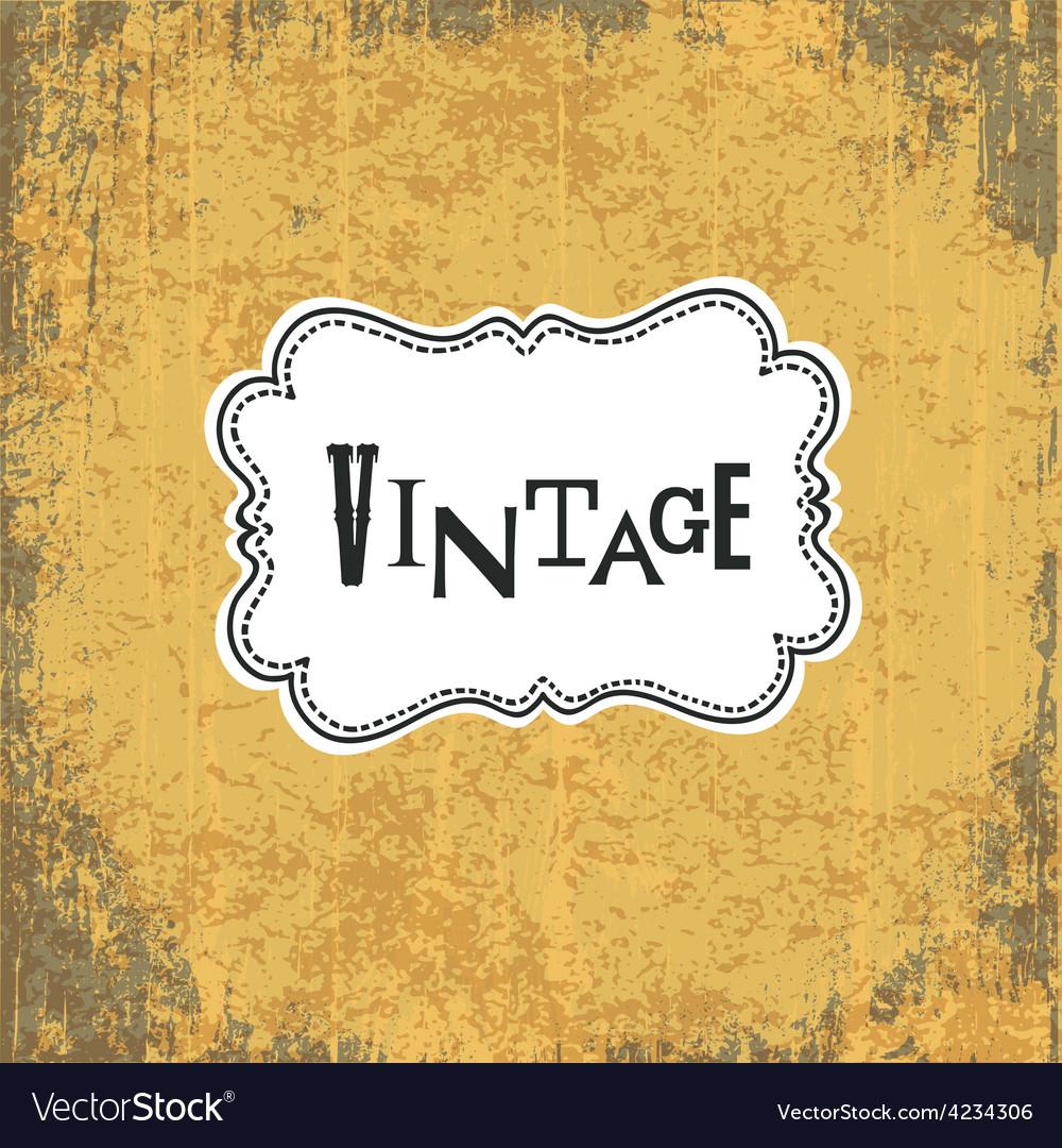 Vintage retro grungy card vector
