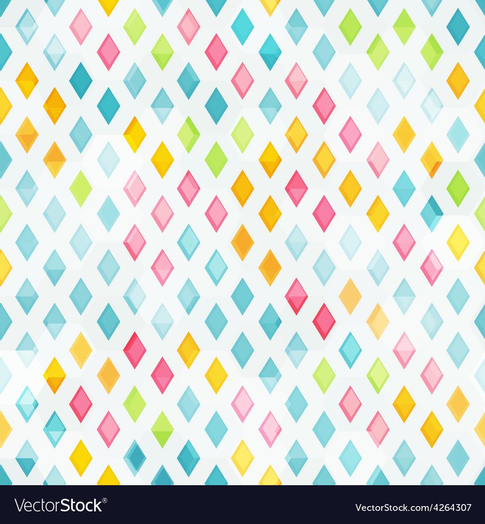 Colored diamond seamless pattern vector
