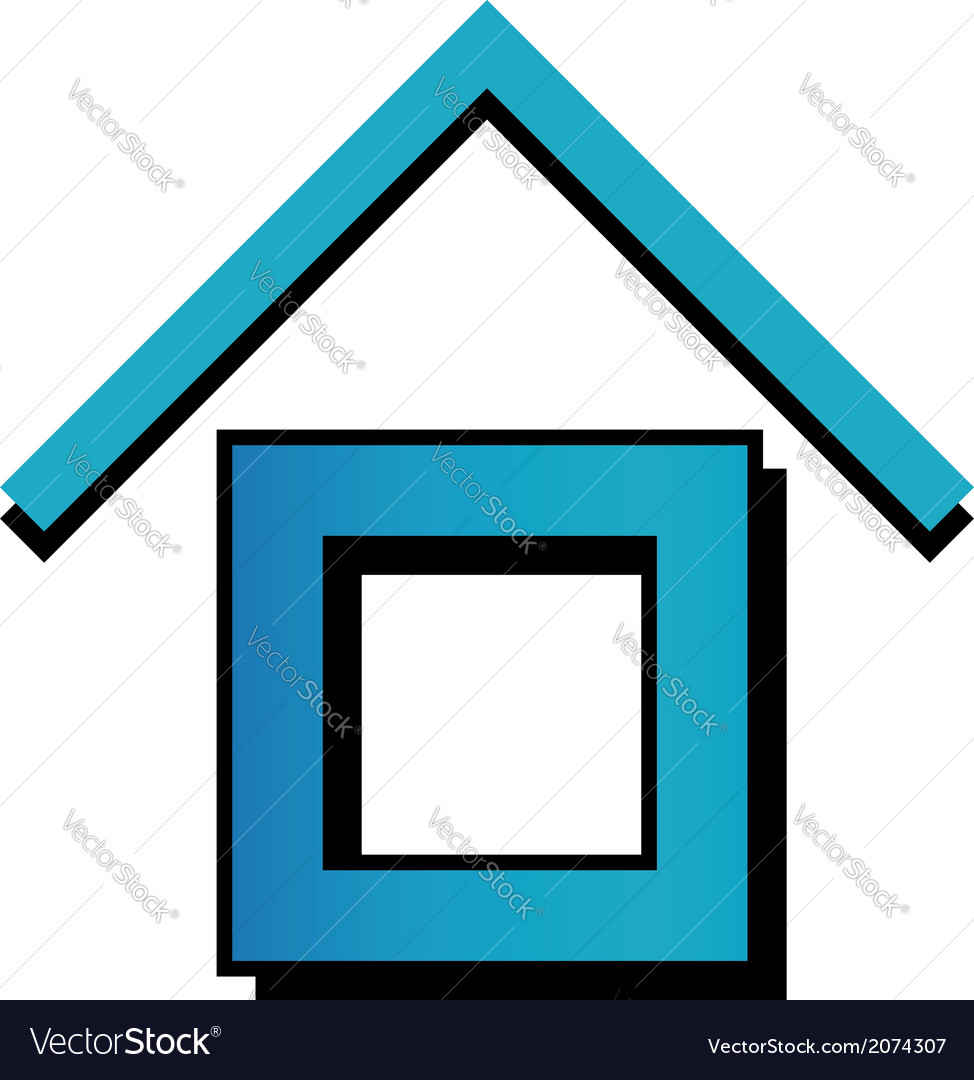 House with a roof vector