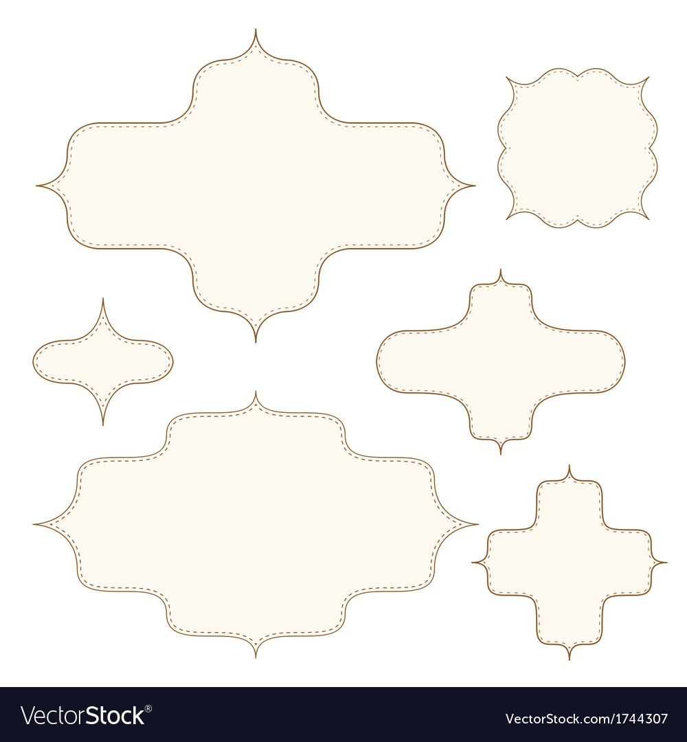 Stitched frames set vector