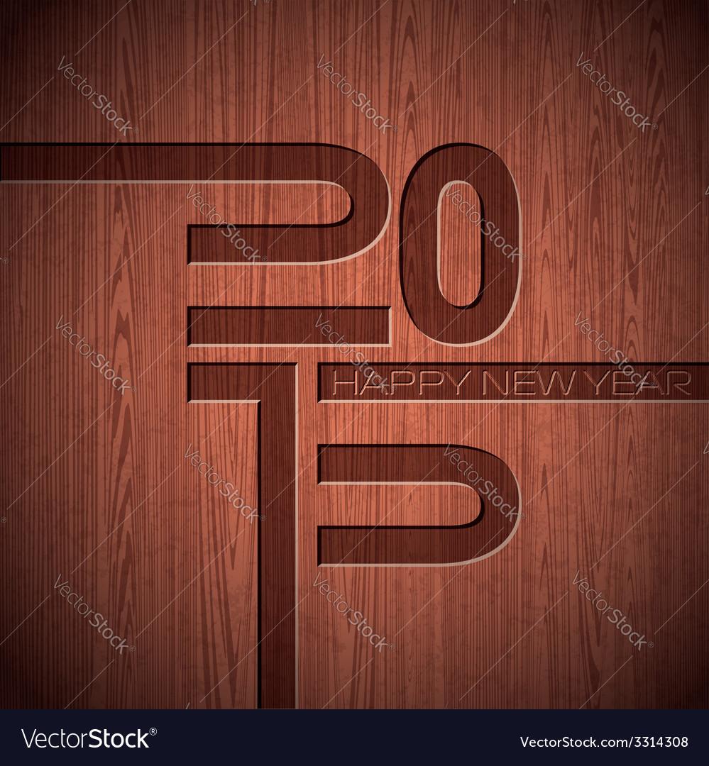 Engraved 2015 happy new year typographic design vector