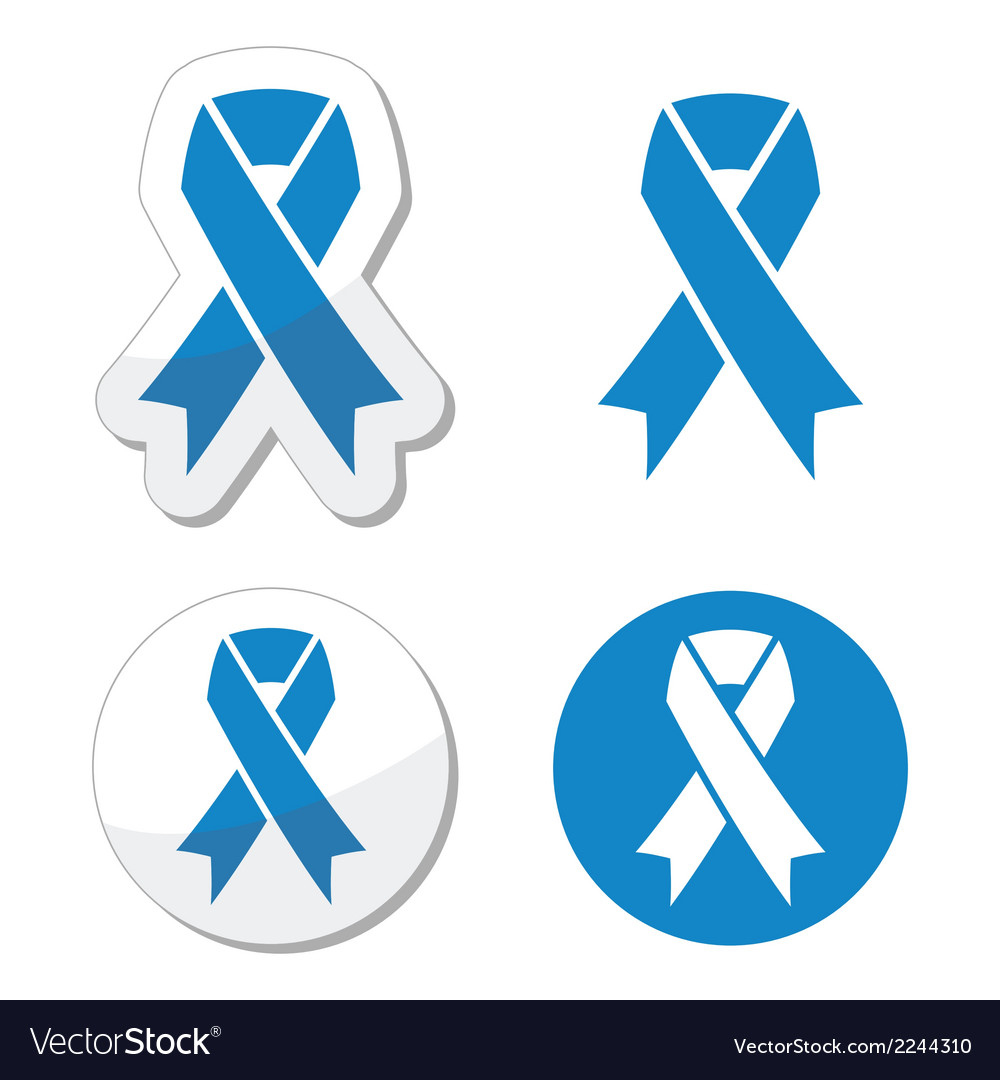 Blue ribbon - drunk driving child abuse symbol vector
