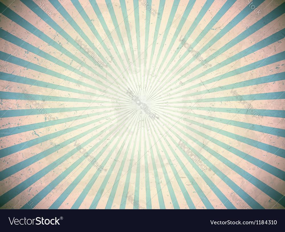 Blue vintage rays vector
