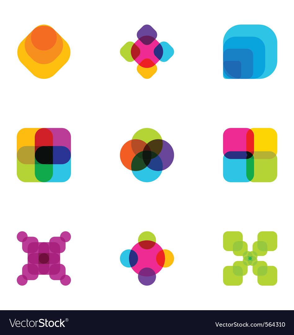 Logo design elements set 04 vector