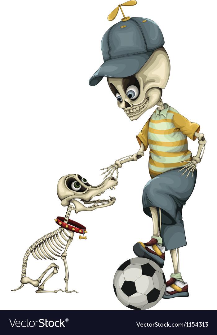Funny skeleton vector