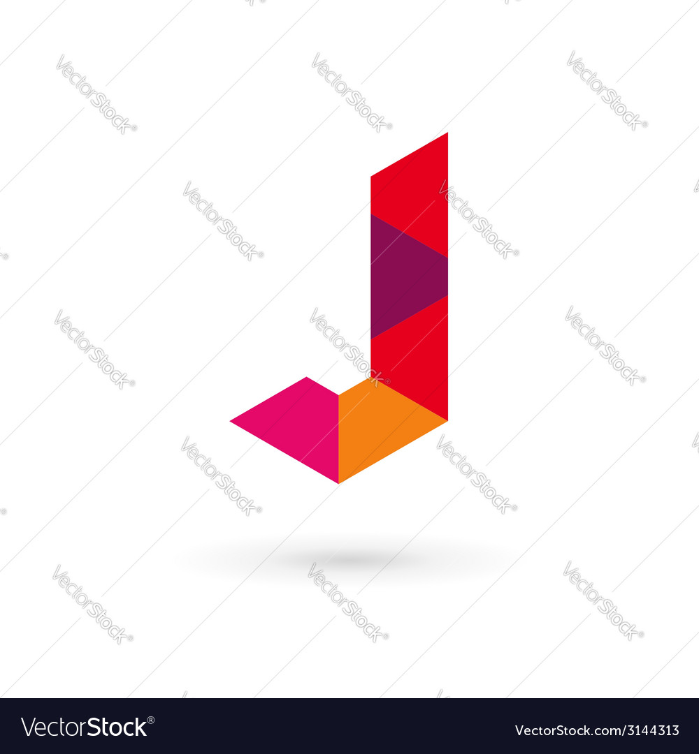 Letter j mosaic logo icon design template elements vector