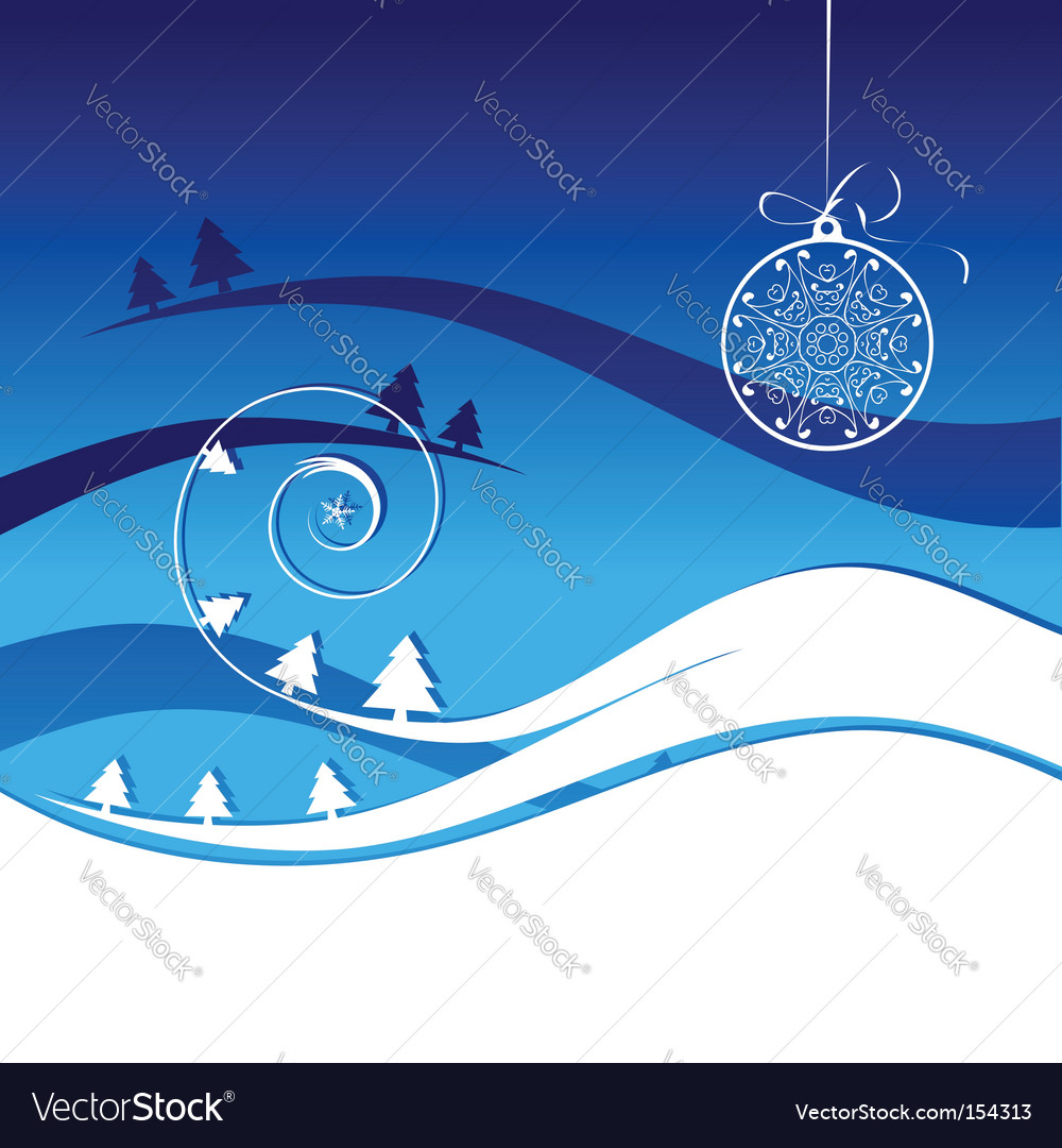 Winter holiday christmas card vector